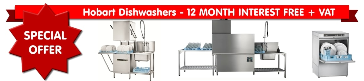 Hobart Dishwashers - 12 MONTH INTEREST FREE + VAT