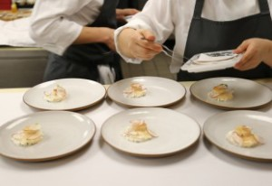 Chefs and plates